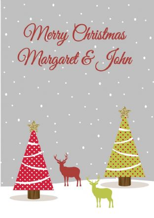Personalised Deer Christmas Card